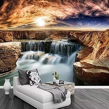 Benutzerdefinierte Wallpaper Wande Rock Wasserfall
