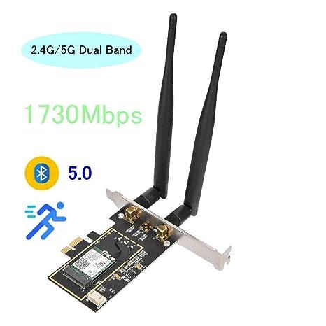 Tosuny Tarjeta de Red Bluetooth 5.0 WiFi Tarjeta PCIE ...