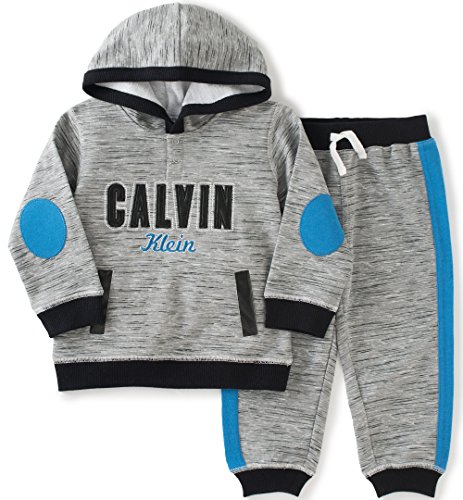 2a3058830f72 Calvin Klein Baby Hooded Pullover with Pants Set
