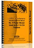 Allis Chalmers B C CA Tractor 5 sickle bar mower ops parts manual
