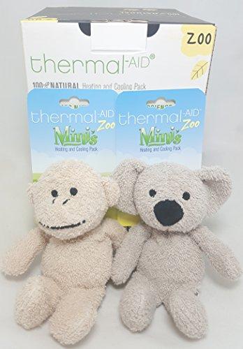 Thermal-Aid Combo Pack Mini Stuffed Monkey & Mini Stuffed Koala Natural Heating & Cooling Packs (Microwave Heating Stuffed Animals compare prices)