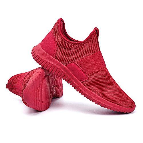 Scarpe per Rosso Sportive Sneakers Correre Lacci Senza Uomo ZOCAVIA da TOdqfFwF