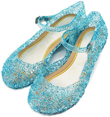 Price comparison product image Full Win Girls Glitter Nest Lines Mary Jane Flat Shoes Crystal Princess Dress Sandals