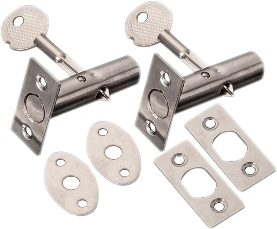 HWMATE Stainless Steel Hidden Manager Tubewell Mortise Fire Door Lock with Key for Office Home Style B (2 Pack)