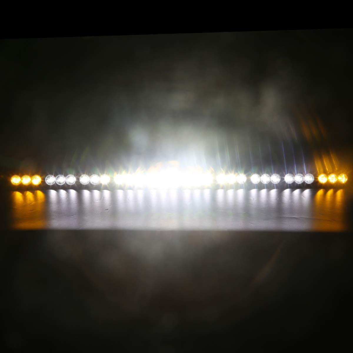LED Light Bar 6 Inch 30w Amber Len LED Work Light Spot Flood Combo Led Driving Lights Boat Lighting Fog Lights Offroad,Suv 4wd Truck Heavy Duty Vehicle Atv Lights