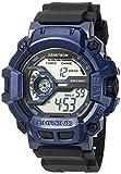 Armitron Sport Men's 40/8353BNV Navy Blue Accented Digital Chronograph Black Resin Strap Watch
