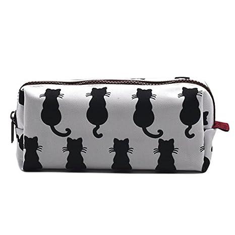 Gato negro estuche para bolsa de vuelta a la escuela profesor regalo Gadget bolsa de maquillaje