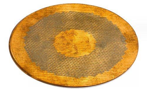 ナイフメーキング 322118 ハチの巣模様ヒルト材(RUNYON USA) コパー&チタン 3.0×80×120 B01HOLWFK0