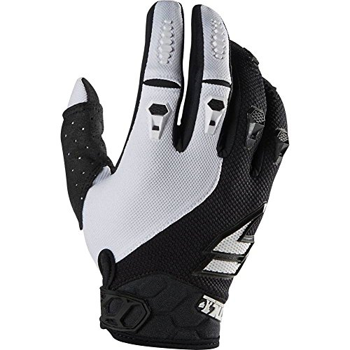 (Shift Racing Faction Mainline Men's Off-Road Motorcycle Gloves - Black/White/Medium)