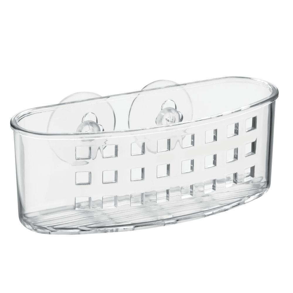 InterDesign Grand Arc Shower Caddy - Bathroom Shelves for Shampoo, Conditioner and Soap, Clear 23900