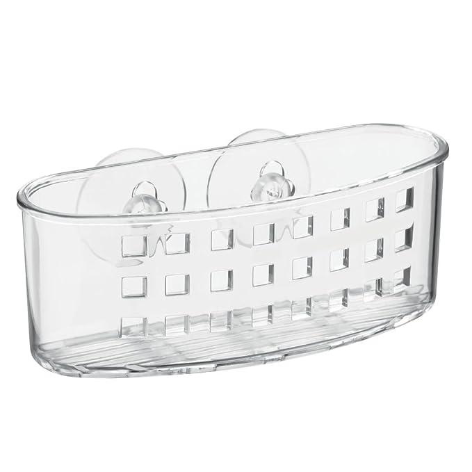 74 opinioni per InterDesign Basic Cestino doccia, Portaoggetti per doccia con ventose in