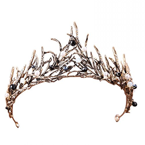 Miranda's Bridal Women's Wedding Crown Pageant Tiara Bridal Headpiece Bronze]()