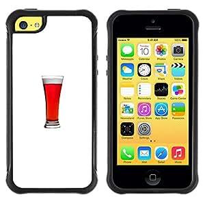 "Hypernova Defender Series TPU protection Cas Case Coque pour Apple iPhone 5C [Minimalista Glass Stout Ale Bebida""]"