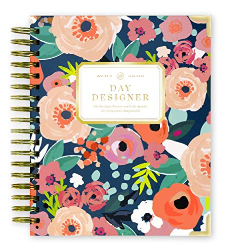 Day Designer 2019-2020 Daily Life Planner and Agenda, Hardcover, Twin-Wire Binding, 9