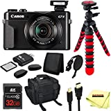 Canon PowerShot G7 X Mark II Digital Camera + 32GB Memory Card + 12 Tripod + Carry Case + Sunshine Accessory Pack