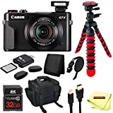 Canon PowerShot G7 X Mark II Digital Camera + 32GB Memory Card + 12'' Tripod + Carry Case + Sunshine Accessory Pack