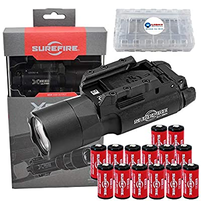 SureFire X300U-A Ultra High Output 1000 Lumens LED Weapon Light with 12 Extra CR123A Batteries and 3 Lightjunction Battery Cases