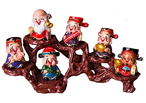 The Five Gods Of Prosperity, Happiness, Longevity,Liveliness, Luck With Innovative Modern Chinese Way Of House Decoration