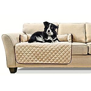 Furhaven Pet Sofa Buddy Pet Bed Furniture Cover, Medium, Espresso/Clay