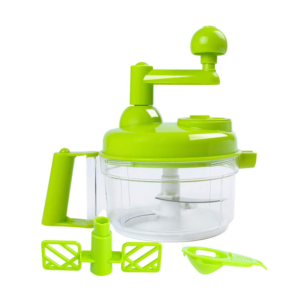KEOUKE Hand Crank Food Processor - Manual Food Chopper Blender Mixer Cutter Meat Grinder for Vegetables, Fruits, Salad with a Egg Separator
