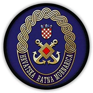 Patch//Aufn/äher Kroatische Marine Hrvatska ratna mornarica Seestreitmacht Streitkr/äfte Teilstreitkraft Soldaten Hrvatska vojska K/üstenwache Split Republik Kroatien Kroatisch Emblem #19236