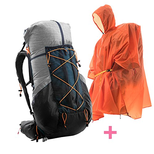 3F Gear 40+16L Internal Frame Backpack Lightweight Hiking Daypack, Large Capacity Travling Backpacks Grey for Outdoor Sport Climbing Camping Mountaineering Backpack with Functional - Gear Internal