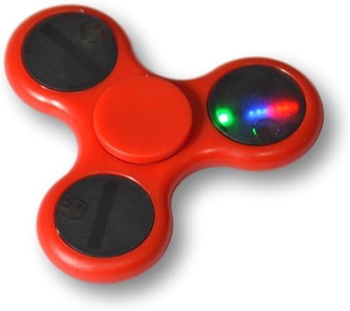 Tumi ShenZhen Fidget spinner LED con varios efectos de luz. Varios colores (Rojo): Amazon.es: Juguetes y juegos