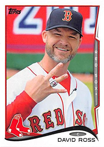 Red Sox World Series Ring (David Ross baseball card (Boston Red Sox Dancing with Stars) 2014 Topps #US60 World Series Ring)