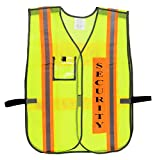 Security Safety Vest with Reflective Strips, One Size Fits All (10-Pack, Neon Lime)