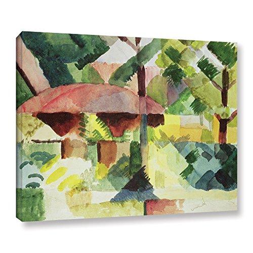 August Macke ''The Garden, 1914'' Gallery Wrapped Canvas, (Macke Garden)