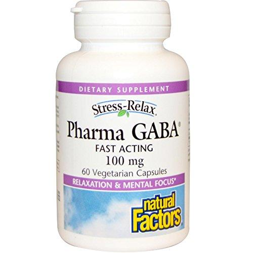 Natural Factors - Stress-Relax Pharma GABA 100mg - 60 Capsules végétariennes