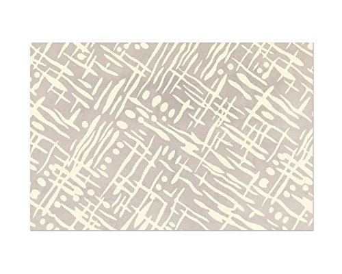 Easy, Tiger Heavyweight Paper Placemats (set of 10), Cream Sketched Pattern