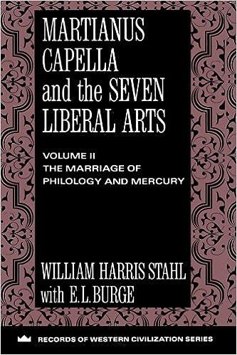 Martianus Capella And The Seven Liberal Arts Records Of Western Civilization Series Records Of Western Civilization Paperback Stahl William Harris Johnson Richard Burge E L 9780231096362 Amazon Com Books