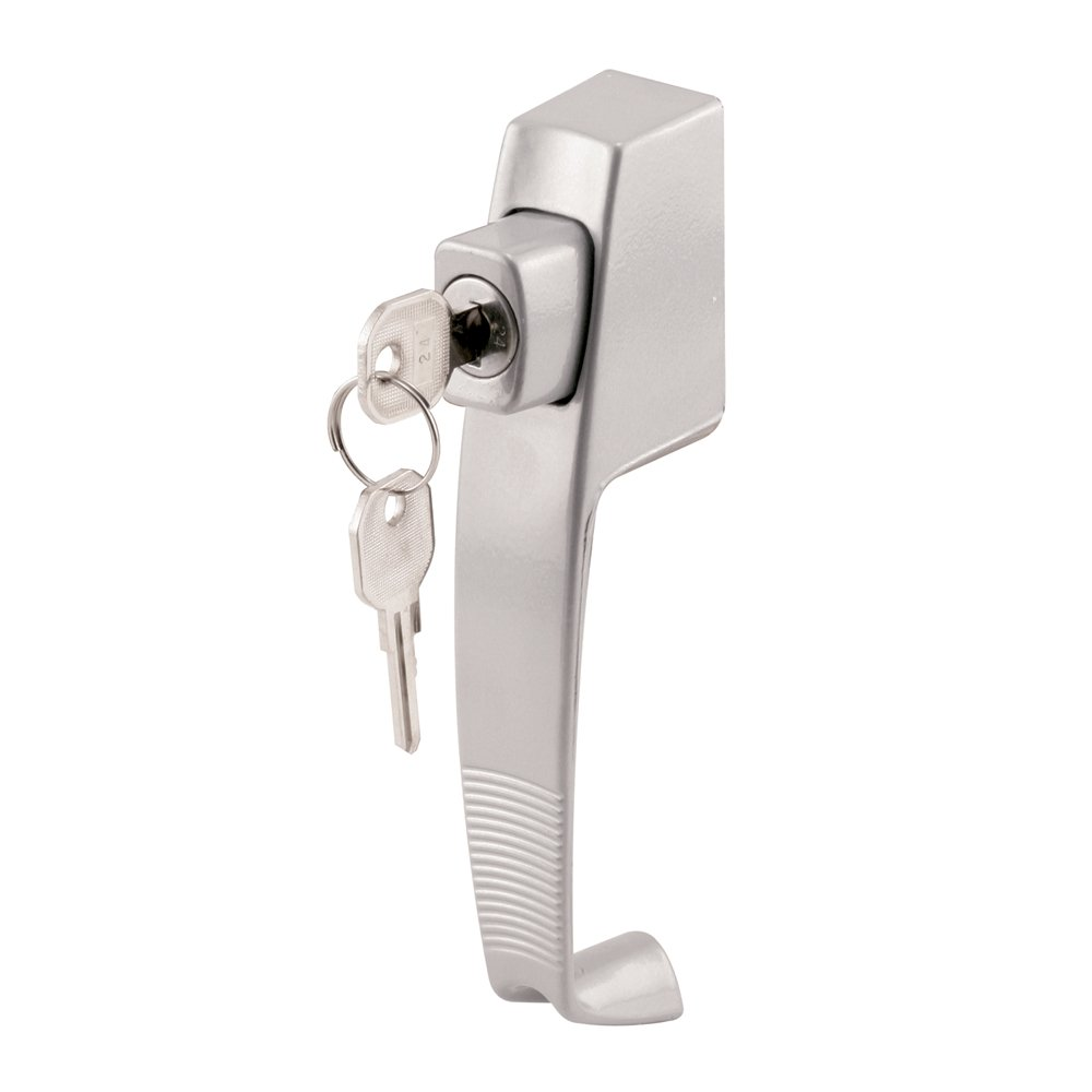 Prime-Line Products K 5089 Push Button Lock with Key and 1-3/4-Inch Hole Center, Aluminum