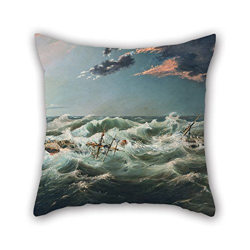 Oil Painting James Shaw - The Admella Wrecked, Cape Banks, 6th August, 1859 Pillow Covers 16 X 16 Inches / 40 By 40 Cm Best Choice For Teens Car Bar Christmas Birthday Drawing Room With 2 Sides]()