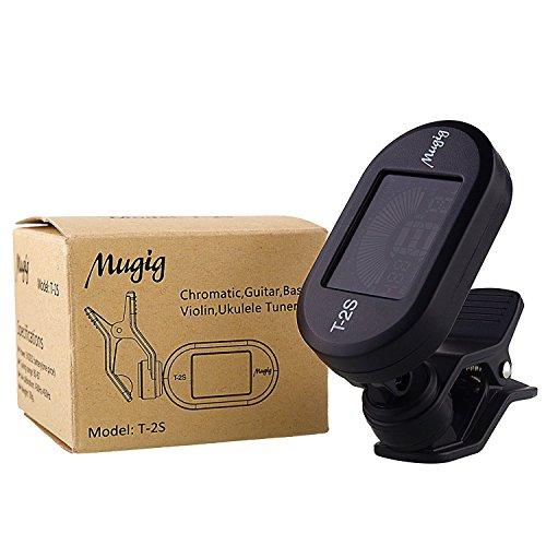 mugig guitar tuner clip on tuner colorful led display chromatic tuner for electric guitar. Black Bedroom Furniture Sets. Home Design Ideas
