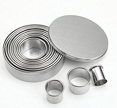 Amazon.com: Juego de 12 moldes para tartas de aluminio ...