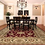 Orian Rugs Townbridge Claret Area Rug - STAIN RESISTANT and EXTREMELY DURABLE with 100% Fine Denier Olefin Yarn - Will Not Shrink or Warp and EASY TO CLEAN and Maintain
