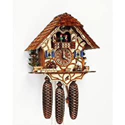 8-Day Black Forest House Cuckoo Clock w Shingles