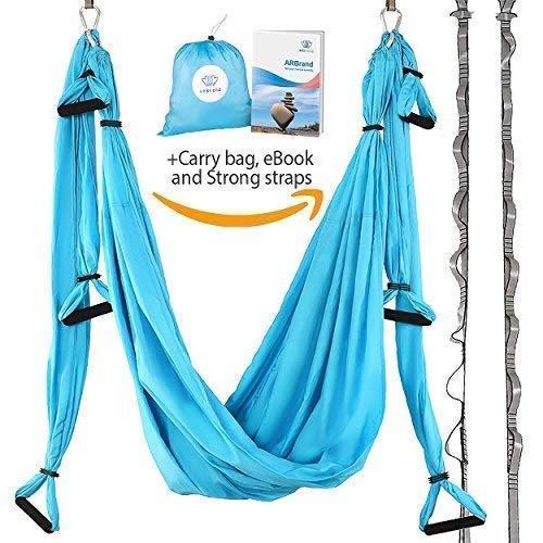 Yoga Swing – Antigravity Yoga Hammock – Aerial Trapeze – Sling – Inversion Tool for Back...