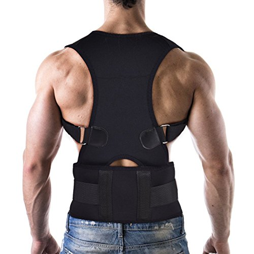 Posture Corrector, Upper Back Straightener Adjustable Support Brace for Sitting Posture Training, Fits Both Men and Women  (XL(Waist Length: Approx. 110cm/43.3inch))