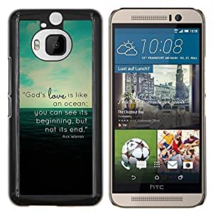Stuss Case / Funda Carcasa protectora - EL AMOR DE DIOS ES COMO UN OCÉANO - HTC One M9Plus M9+ M9 Plus