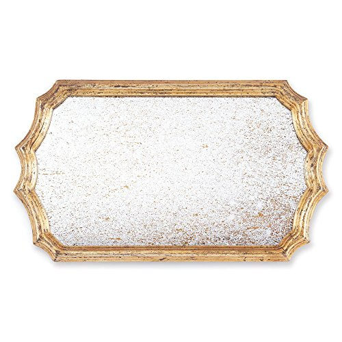 Rive Gauche Gilded Mirror Rectange Tray by Napa Home and Garden
