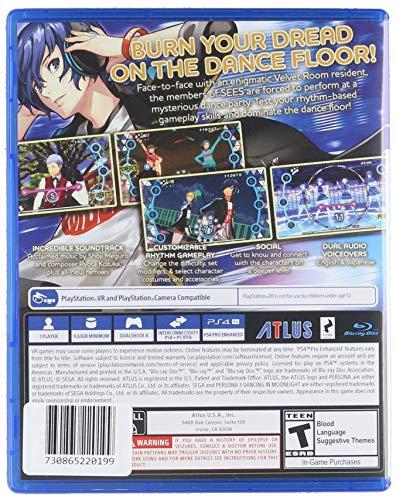 Amazon com: Persona 3: Dancing In Moonlight - PlayStation 4: Sega of