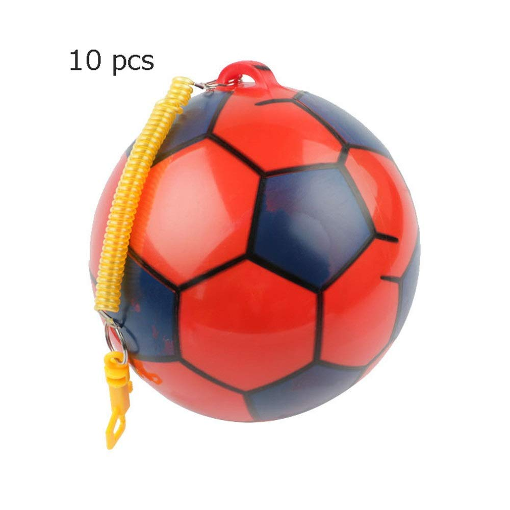 Liuxina Children's Football for Toddlers Kids Aged 1-4 Years Old with Telescopic Belt 10 Pcs Kindergarten Toys Soccer Ball Mini Soccer Toys PVC Soft Balls Football Toy Great Gift for Boys and Girls by Liuxina