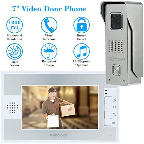 "DIYSECUR Quality 4.3"" 4 Wired Apartment Video Door Phone ... 