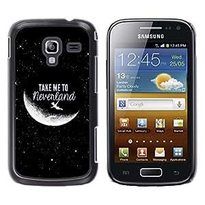 [Neutron-Star] Snap-on Series Teléfono Carcasa Funda Case Caso para Samsung Galaxy Ace 2 [Lléveme a Luna Cielo Cosmos Amor]