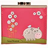 Shag Wear Women's Coin Purse Fuschia Hippo