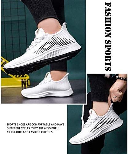 メンズ通気性カジュアルシューズ、衝撃吸収軽量シューズ (Color : White, Size : 40EU)