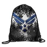 US Air Force Kawaii Teen Girl Drawstring Bag Heavy Duty Gym Sack Bag College